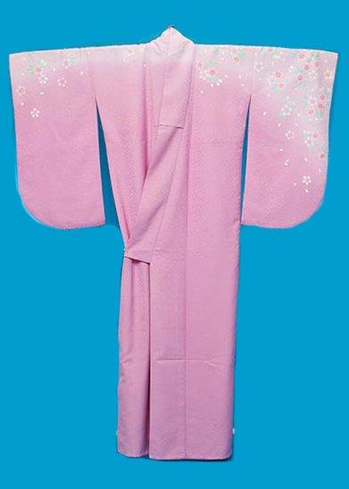 S538小振袖レンタル 裄70(ヒップ70-100) ピンクパープル 肩ぼかし 小桜