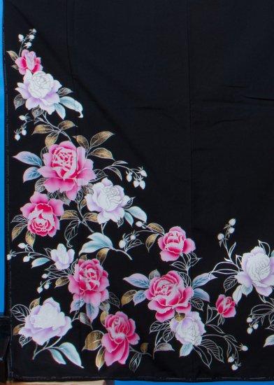 T106トール留袖レンタル 裄74(身長157-177ヒップ74-99) 薔薇