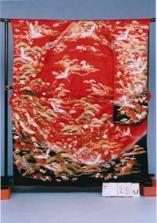 F280トール振袖レンタル 裄70 (身長154-174ヒップ68-98)赤系
