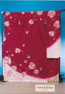 F358トール振袖レンタル裄72(身長156-176ヒップ69-99) 正絹 赤系 [kami shibai] 【新品未使用】