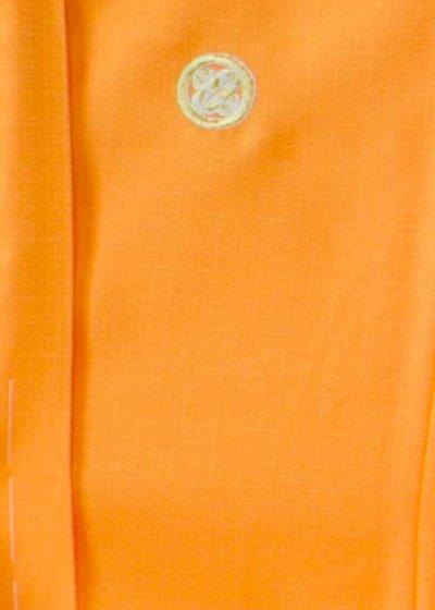 MP75-28紋付レンタル 裄75(身長175 胴回り74-104) 日本製 鮮やかオレンジ 【新品同様】