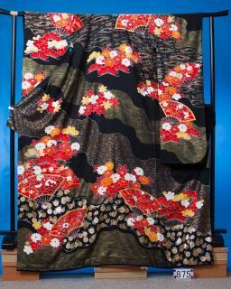 トールサイズ大振袖レンタル(ヒップ107cmまで)黒 OF875