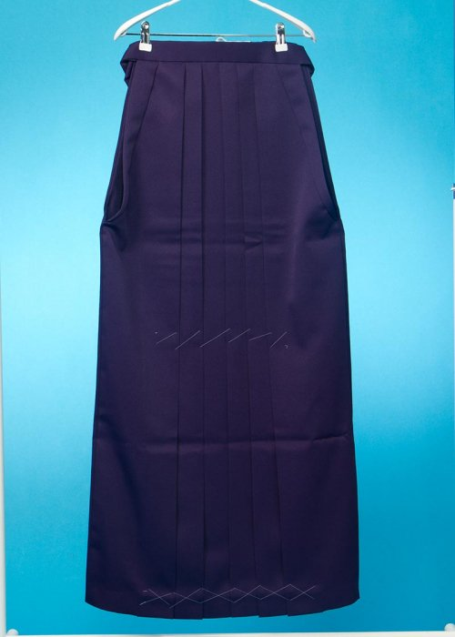 HA106-5トール女袴レンタル(紐下106身長175-180普通巾) 濃い紫 無地 特注大きいサイズ【新品同様】