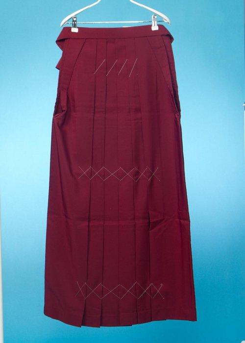 HA102-6トール女袴レンタル(身長170-175cm)赤系 エンジ