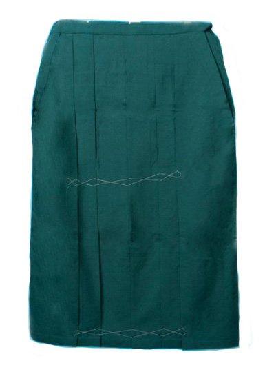 HA95-23超ワイド女袴レンタル紐下95(身長160-165ヒップ110-145)グリーン無地 大きいサイズ