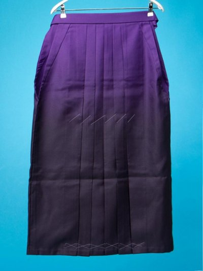 HA95-47Wワイド女袴レンタル(身長160-165(ブーツの場合165-170)ヒップ90-120)紫ぼかし