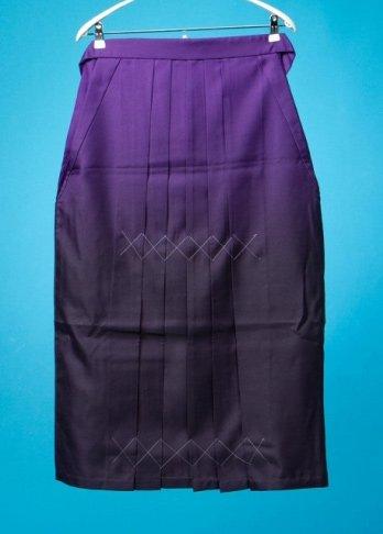 HA91-26Wワイド女袴レンタル(身長155-160(ブーツの場合160-165)ヒップ90-120)紫ぼかし 大きいサイズ