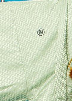 MP77-1紋付レンタル 裄77(身長180胴回り73-103) 薄緑シャーベットグリーン