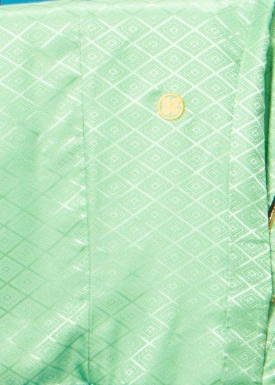 MP79-15トールワイド紋付レンタル 裄79.5(身長185-190 胴回り81-111) ミントグリーン薄い緑色