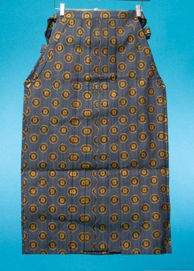 男袴レンタル 身長170-175cm前後 黒と水色に金の菊紋 MH90-10