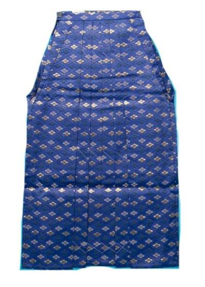 MH91-7男袴レンタル(身長170-175cm前後)紺に金銀の菊菱