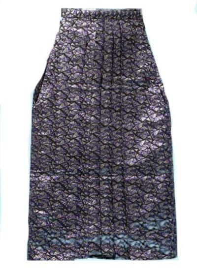 男袴レンタル(身長170-175cm前後)銀と紫のモザイク模様 MH91-21