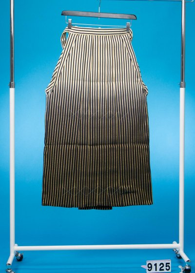 男袴レンタル(身長170-175cm前後)金と黒の縞模様・白ぼかし MH91-25
