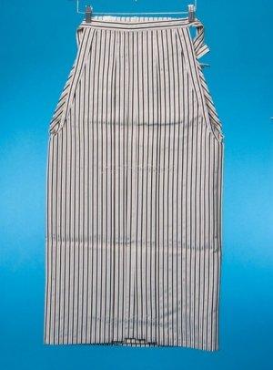 普通サイズの男袴(身長170-175cm前後)白黒銀ストライプ  MH92-1