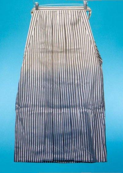 男袴レンタル(身長170-175cm前後)黒白銀の縞 MH92-7