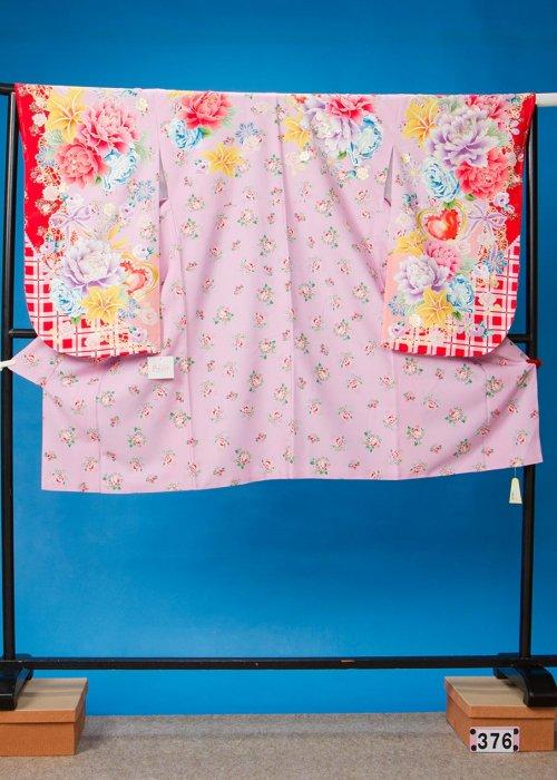 S376小振袖レンタル 裄73 ラベンダー色 shy紗衣 スザンヌ【新品同様】