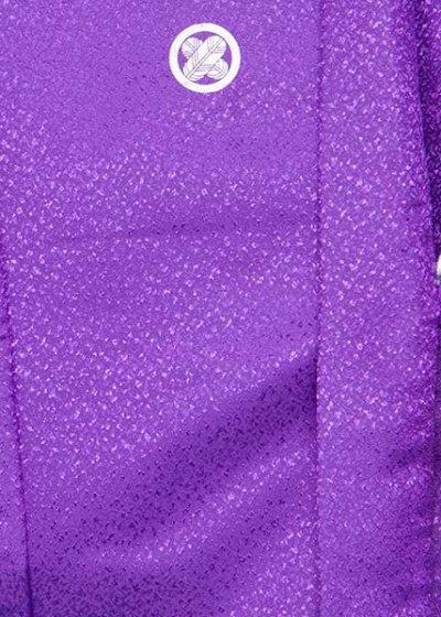 MP71-13紋付レンタル (裄71身長165胴回り72-102) 鮮やかな紫 吹雪