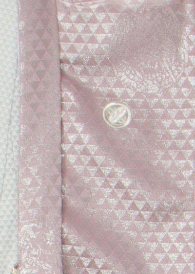 MP81-10トールワイド紋付レンタル 裄81(身長190胴回り82-112) ピンクがかった薄紫 銀の龍[J-TREND]【新品同様】