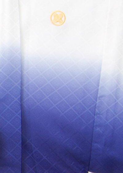 MP77-13紋付レンタル 裄77.5(身長180 胴回り77-107) 白/紺ぼかし