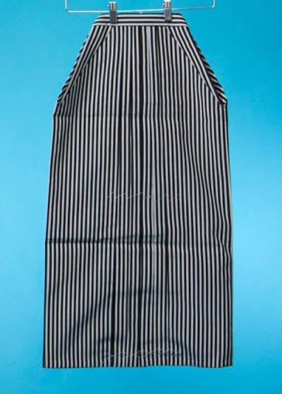 小さいサイズの男袴 身長143-148cm前後 グレーと黒の縞模様 MH79-1