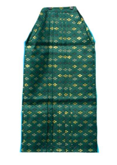 MH80-2男袴レンタル 身長145-150cm前後 グリーンに金の花菱