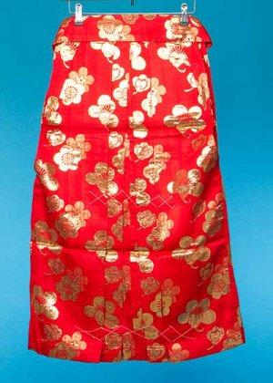 HA82-1女子袴レンタル(身長140-145)赤 梅模様