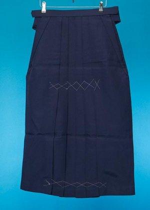 HA87-2女子袴レンタル(身長150-155前後)青紺 無地(明るめの紺)