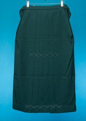 HA87-3女子袴レンタル(身長150-155普通巾)濃緑 無地