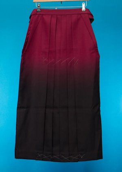 HA93-6女袴レンタル 紐下93 (身長158-163cm前後 普通巾) ワイン黒ぼかし