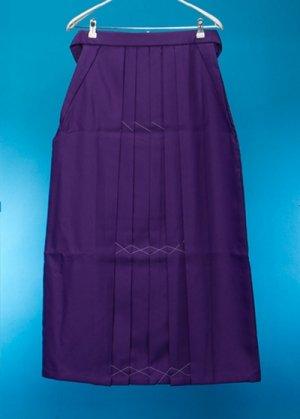 HA93-10ややワイド女袴レンタル(身長158-163ヒップ70-110)紫 無地  前幅広め