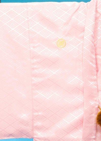 MP82-3トールワイド紋付レンタル 裄82(身長185-195胴回り84-114)ピンク