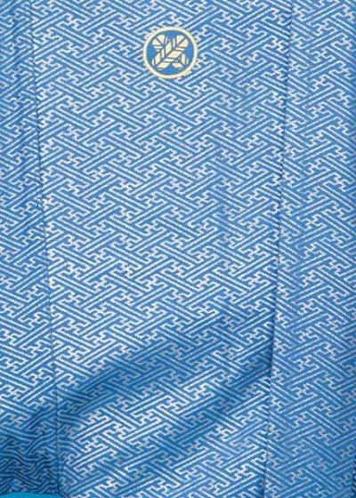 MP69-8紋付レンタル 裄69(身長160 胴回り73-103)青 銀ラメ 作家物 [秋山章]