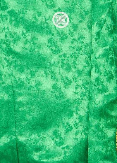 MP69-11紋付レンタル 裄69(身長160 胴回り74-104) 明るい緑 ライムグリーン
