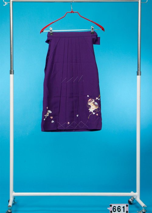 女子袴3-4才(身長110-115cm前後) 紫 桜とまり  HA66-1