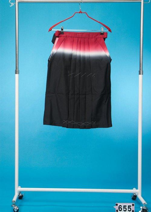 女子袴5-6才(身長110-115cm前後) 赤白黒ぼかし  HA65-5