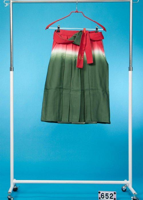 女子袴5-6才(身長110-115cm前後) 赤白緑ぼかし  HA65-2
