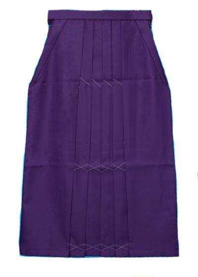 HA97-10トールややワイド女袴レンタル紐下97(身長163-168ヒップ80-110)紫無地 前ひもロング