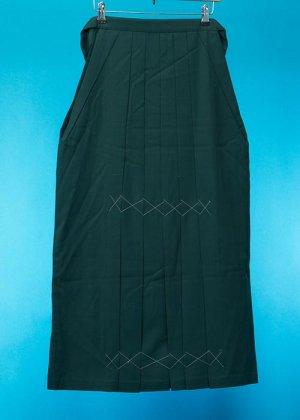 HA97-12トールややワイド女袴レンタル(身長163-168(ブーツの場合168-173)ヒップ80-110)グリーン無地 前ひもロング加工済み
