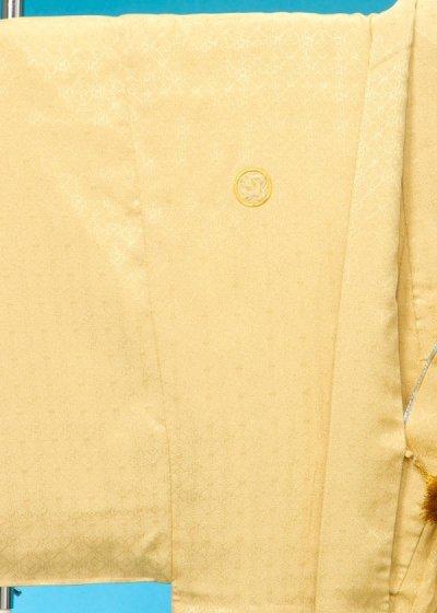 MP79-1紋付レンタル 裄79(身長185 胴回り77-107)金系 黄金色 (黄色っぽい明るい金茶)