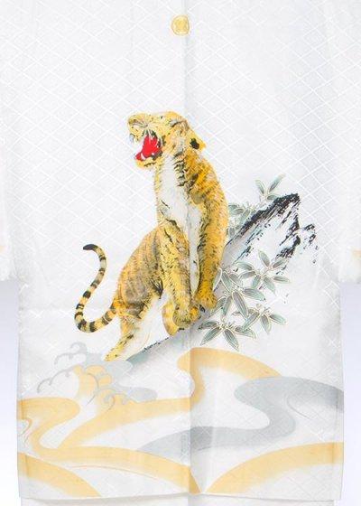 MP78-6紋付レンタル 裄78(身長185 胴回り75-105) 白・虎