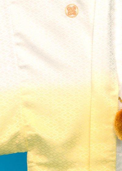 MP78-28トール紋付レンタル  裄78(身長185 胴回り75-105)白レモン色ぼかし