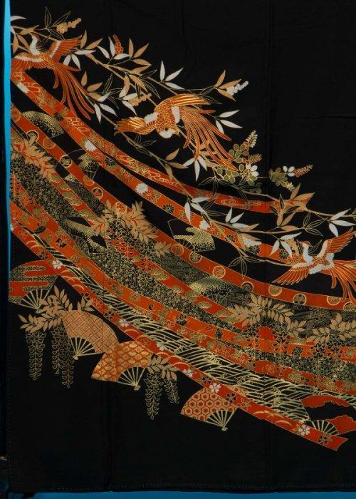 TK171トール留袖レンタル 裄67(身長147-167ヒップ76-101) 正絹 鳳凰