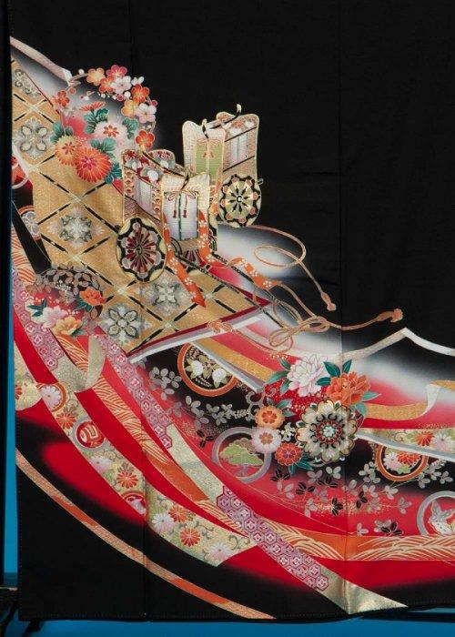 TK158留袖レンタル 裄67-71身長144-164ヒップ75-100) 正絹  作家物