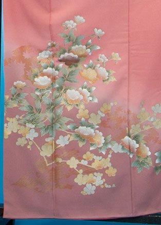TI502Pややトール色留袖レンタル(裄66-70身長145-165ヒップ76-101) 濃いサーモンピンク