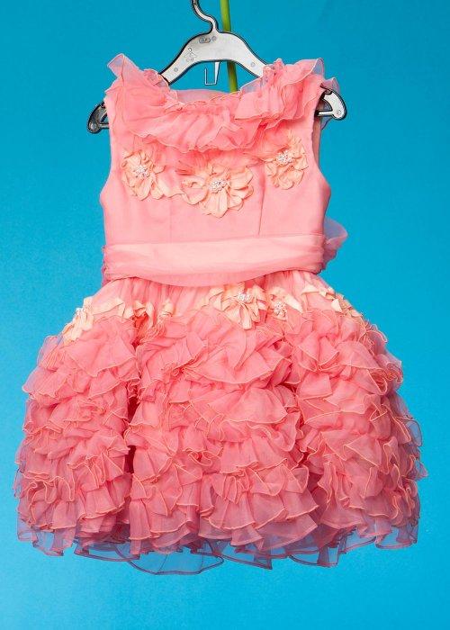 子供ドレス(身長100cm前後)ウエディングドレスメーカー日本製  ピンク G100-3