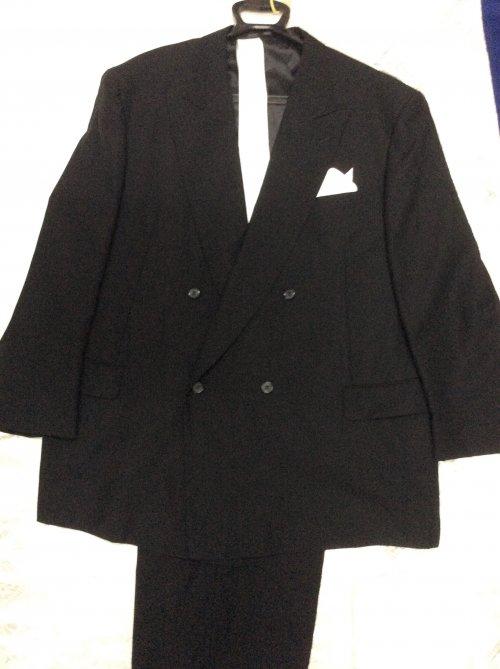 ダブル礼服レンタル K6号 特別サイズ(身長175-180cm前後、肩幅57、袖丈63、ウエスト114-129)W6K-8