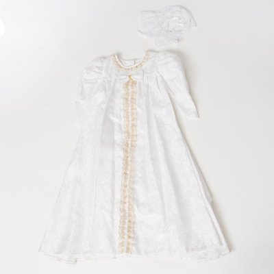 G70-6ベビードレス(身長70cm前後) 白 金レース