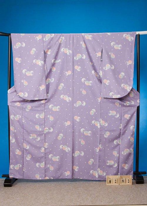 S292小振袖レンタル 裄70(ヒップ105まで)紫系 薄紫 まり[KANSAI]山本寛斎