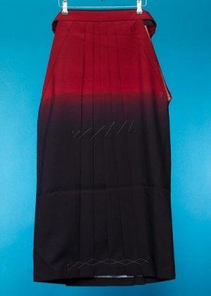 HA56-6女子袴レンタル(3-4才用/身長90-105cm前後) 赤 紺ぼかし