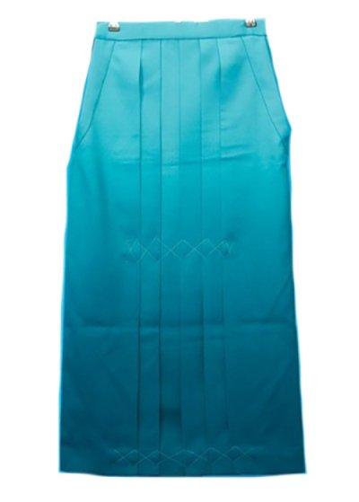 HA94-2ややワイド女袴レンタル(身長158-163(ブーツの場合163-168)ヒップ70-110) 水色ぼかし 前幅広め
